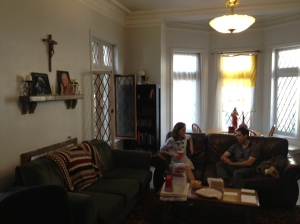The John Paul II room, which makes me miss the John Paul II House in Irving less.
