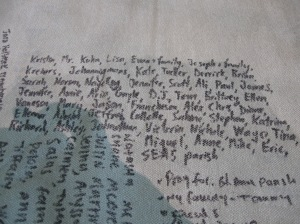 Here are some of the people and causes I was praying for by name during the trip. You might be on there!