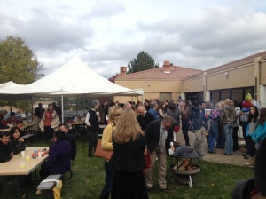 Octoberfest at Holy Name was full of good food and enthusiastic parishioners.