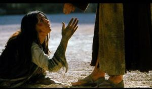 Jesus forgiving the woman