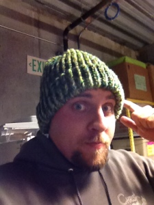 Real men knit their own hats