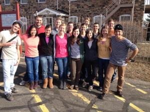 All of the fall 2013 missionaries at our end of year retreat