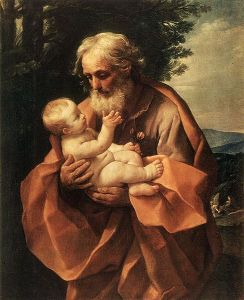 Saint Joseph with the Infant Jesus, Guido Reni (c. 1635)