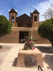 The end of our pilgrimage, El Santuario de Chimayo!