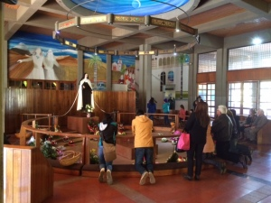 Pilgrims at El Santuario de Santa Teresa de los Andes