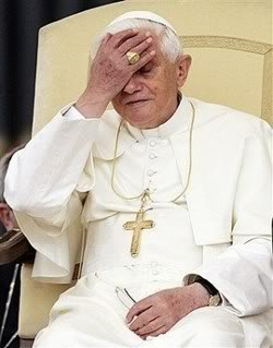 papal facepalm