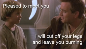 There may be other reasons Anakin doesn't like Obi-Wan by the end of the film too.
